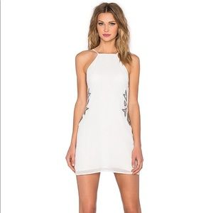 NBD Revolve Wide Eyed Halter Mini Dress Ivory NWT